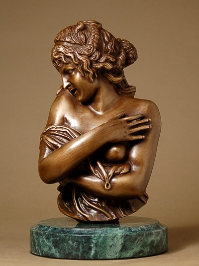CLASSIC BRONZE BEAUTY HALF REVEALED SCULPTURE