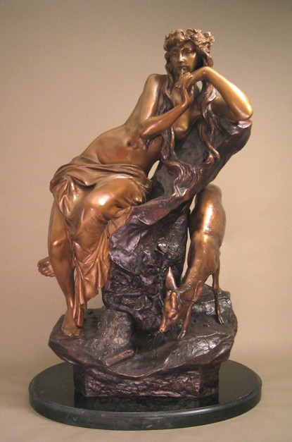 STUNNING NUDE MOTHER NATURE EXQUISITE BRONZE SCULPTURE