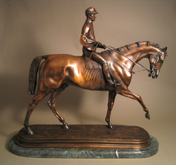 MAGNIFICENT WINNER OF THE DERBY EQUESTRIAN BRONZE SCULPTURE