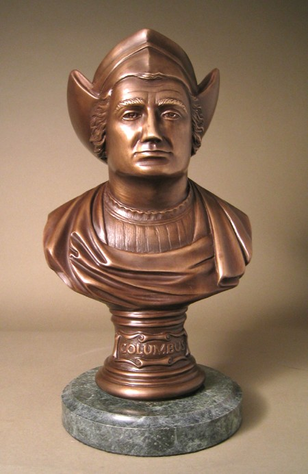 ELEGANT CHRISTOPHER COLUMBUS BRONZE BUST LIMITED EDITION