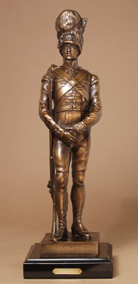 BRITISH GRENADIER CLASSIC BRONZE SCULPTURE