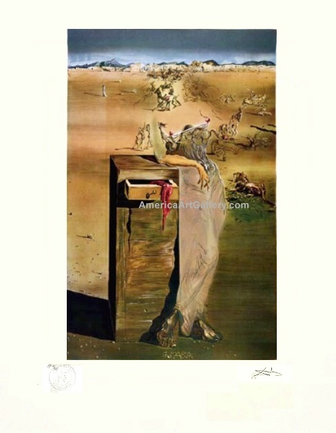 RARE DALI ESPANA PARIS PRINTER PROOF SIGNED LE w/COA