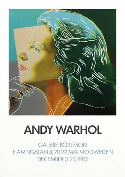 VERY RARE LIMITED EDITION INGRID BERGMAN BY ANDY WARHOL