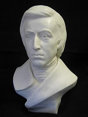 STRIKING FREDERIC CHOPIN BUST SCULPTURE STATUE