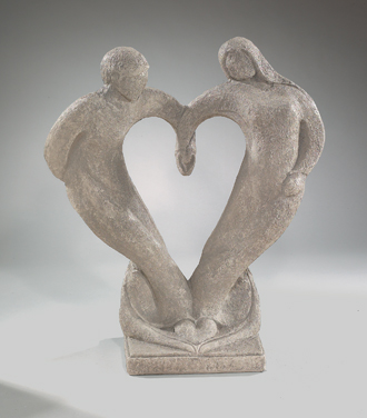 UNIQUE COUPLE IN LOVE STATUE SCULPTURE
