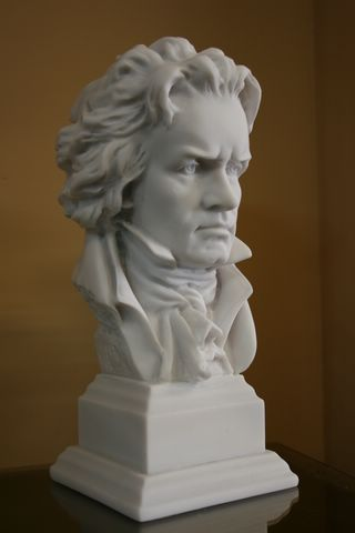 REMARKABLE BEETHOVEN BUST SCULPTURE STATUE