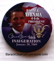 FAB BARACK OBAMA PRESIDENTIAL INAUGRATION COLLECTIBLE BTN-13
