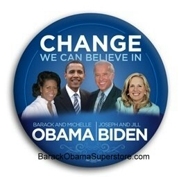 FAB BARACK OBAMA  PRESIDENTIAL COLLECTIBLE  BUTTON -5