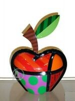 Romero Britto APPLE Sculpture