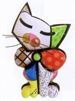 Romero Britto Mia Cat Sculpture