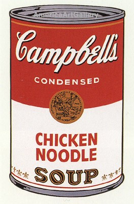 SUNDAY B MORNING WARHOL CAMPBELL SOUP CAN SCREEN PRINT(Chicken)