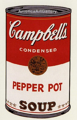 SUNDAY B MORNING WARHOL CAMPBELL SOUP CAN SCREEN PRINT(PepPot)