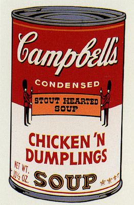 SUNDAY B MORNING WARHOL CAMPBELL SOUP CAN SCREEN PRINT(ChiknDmb)