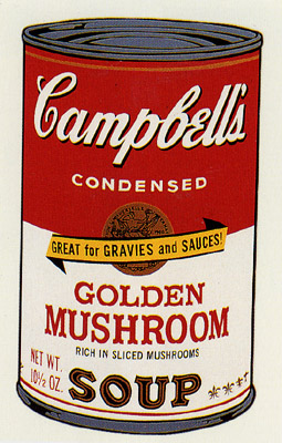 SUNDAY B MORNING WARHOL CAMPBELL SOUP CAN SCREEN PRINT(GldnMush)