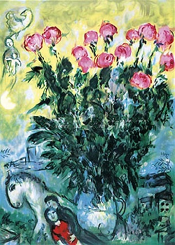 MARC CHAGALL, THE CHAGALL ROSES