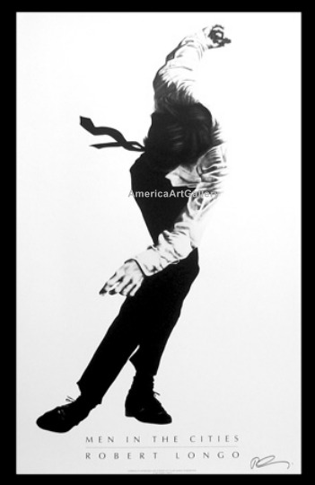 FABULOUS ROBERT LONGO MEN IN CITIES HAND SIGNED(P1)