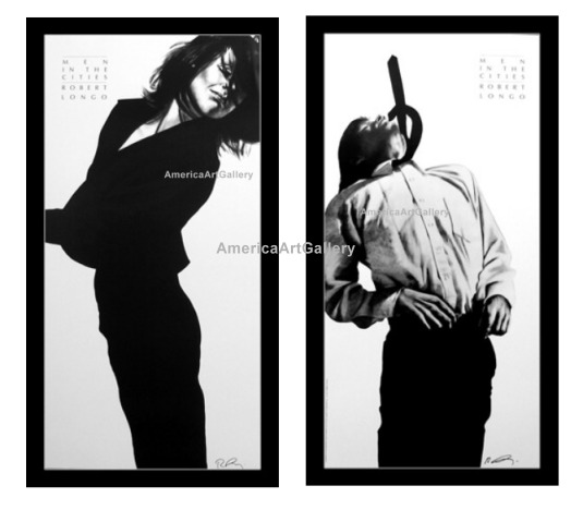 FABULOUS ROBERT LONGO MEN IN CITIES HAND SIGNED L/E SET(2)