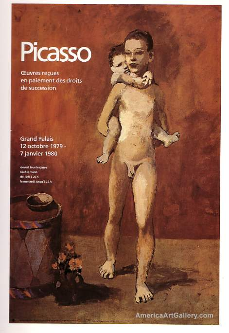 RARE! PICASSO ORIGINAL 1979 EXHIBITION LITHO POSTER
