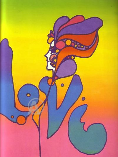 PETER MAX MOST FAMOUS LOVE LITHOGRAPH HAND SIGNED wCOA!
