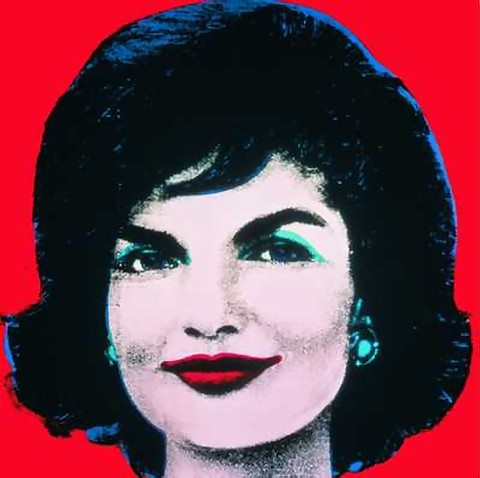 HUGE OFFICIAL AUTHORIZED WARHOL JACKIE KENNEDY PORTRAIT