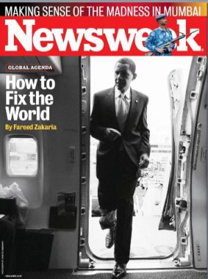 "NEWSWEEK MAGAZINE BARACK OBAMA ""FIX THE WORLD"" COVER ISSUE 2008"