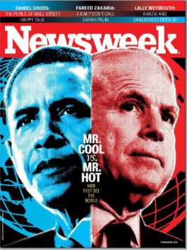 NEWSWEEK MAGAZINE BARACK OBAMA & McCAIN COVER ISSUE 2008