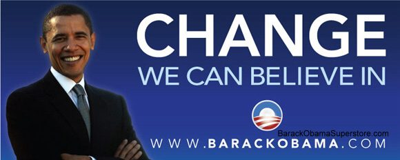 FABULOUS BARACK OBAMA OVERSIZE CAMPAIGN BANNER - COLLECTION
