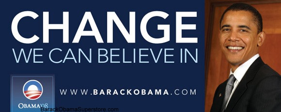 FABULOUS BARACK OBAMA OVERSIZE CAMPAIGN BANNER - COLLECTIBLE 6
