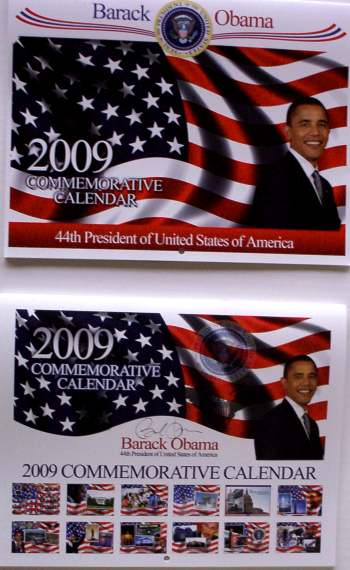 BARACK OBAMA 2009 COLLECTIBLE WALL CALENDAR