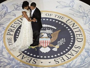 BARACK AND MICHELLE'S DANCE