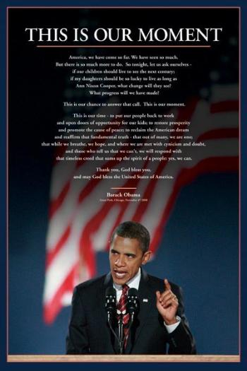 BARACK OBAMA  OUR MOMENT PORTRAIT SPEECH