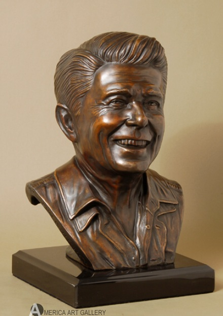 POWERFUL RONALD REAGAN Ltd/ED BRONZE w/COA MUST SEE