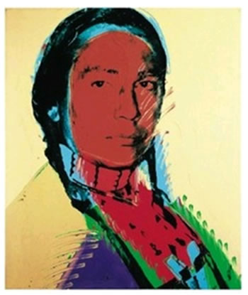 ANDY WARHOL AMERICAN INDIAN FINE LITHOGRAPH PRINT