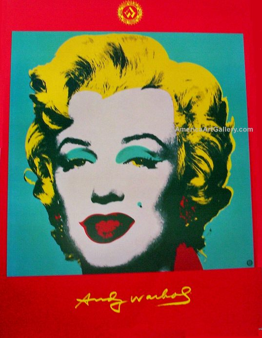 RARE OUT OF PRINT ANDY WARHOL MARILYN LITHOGRAPH PRINT